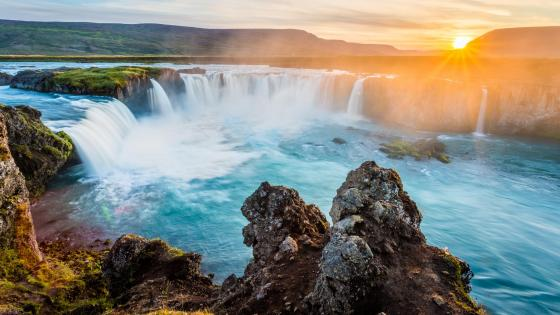 Godafoss Waterfall - Iceland wallpaper