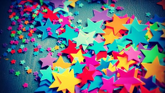 Colorful star decoration wallpaper