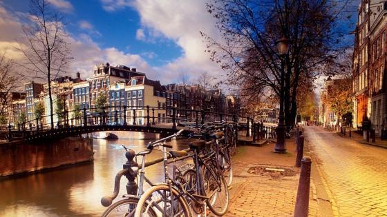 Amsterdam bikes wallpaper