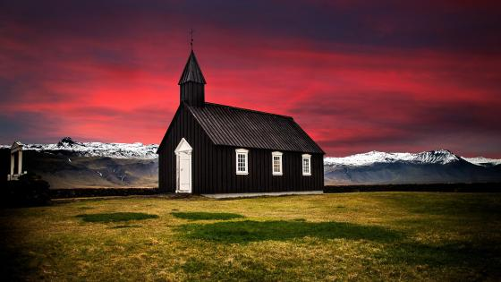 Budir Church - Iceland wallpaper