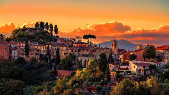 Palaia  - Scenic village in Tuscany, Italy wallpaper