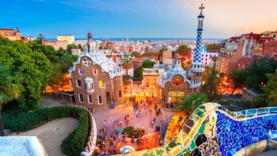 Park Güell from Gaudi House - Barcelona, Spain wallpaper