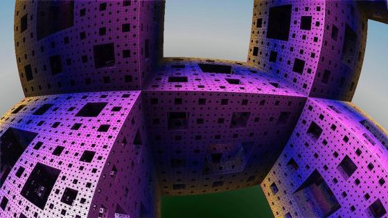 Infinite cubes wallpaper