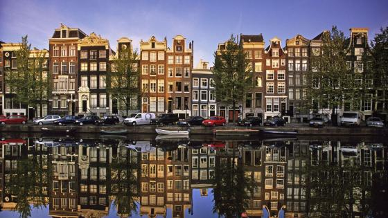 Amsterdam reflection wallpaper