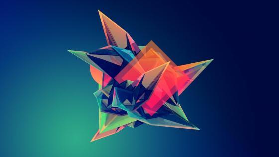 3D Colorful geometry digital art wallpaper