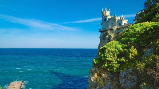 Swallow's Nest Castle wallpaper