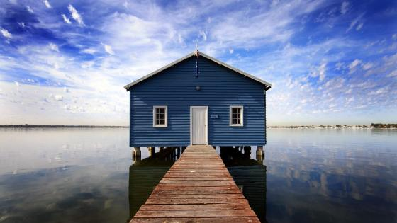 Blue Boat House (Australia) wallpaper