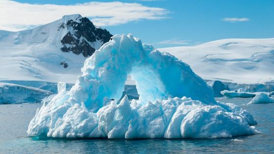 Icy Arctic Ocean wallpaper