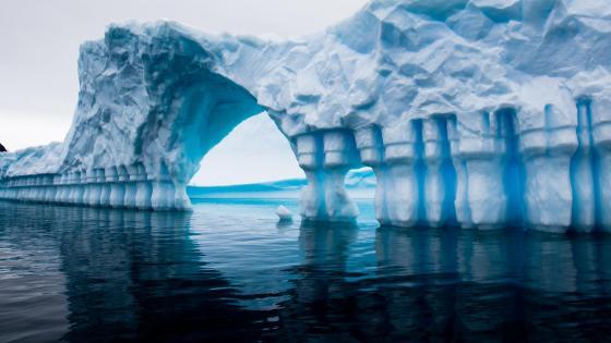 Ice arch above  the Arctic Ocean, Antarctica wallpaper