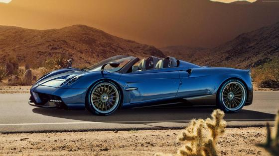 Blue Pagani Huayra Roadster wallpaper