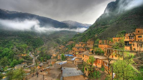 Masouleh village in Iran wallpaper