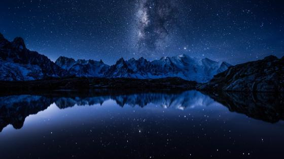 White Lake (Lac Blanc) In Chamonix, Mont Blanc. wallpaper
