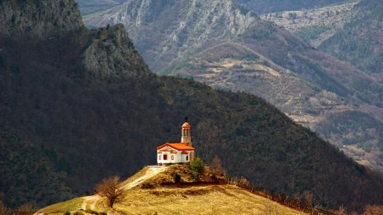 Small chuch in Bulgaria wallpaper