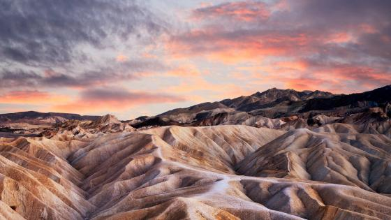 Landscape from Zabriskie Point at Death Valley National Park wallpaper
