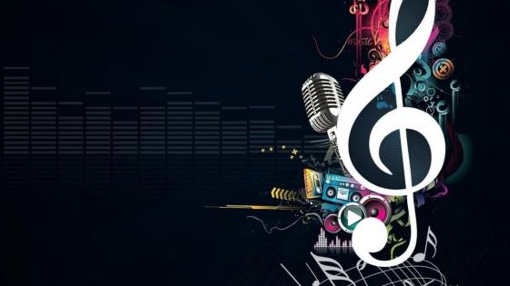 Cool treble clef wallpaper