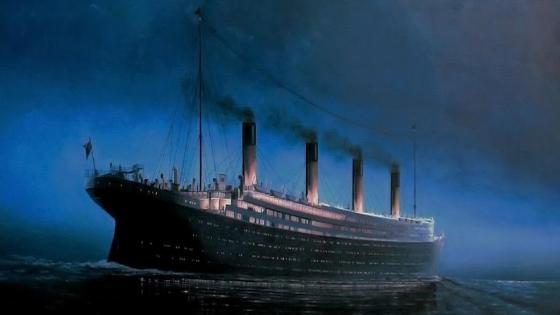 Ship in the ocean wallpaper