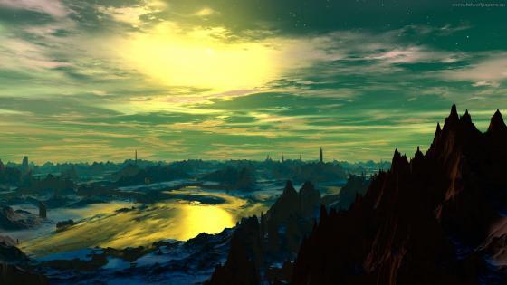 Fantasy landscape image wallpaper