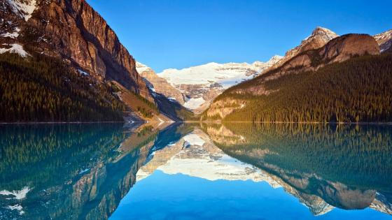 Lake Louise and the Victoria Glacier, Canada wallpaper