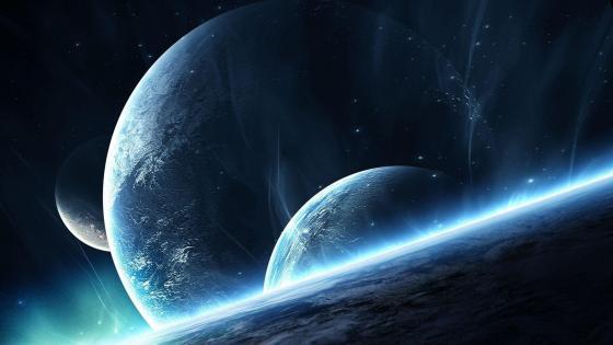 Earth-like planets wallpaper