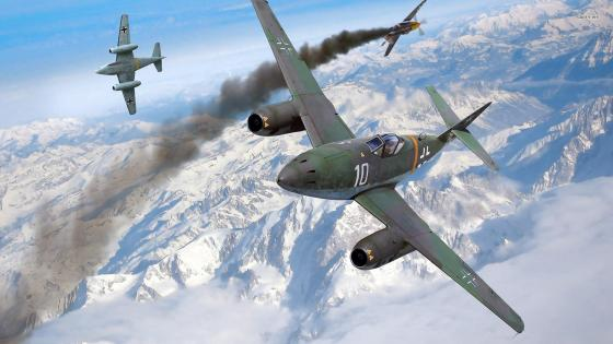 Messerschmitt Me 262 jet fighter wallpaper