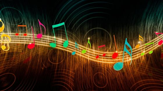 Colorful music note digital art wallpaper