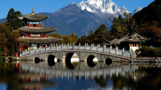 Black Dragon Pool Park, Lijiang, China wallpaper