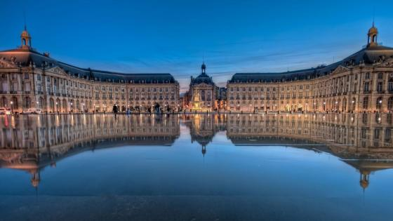 Place De La Bourse in Bordeaux, France wallpaper