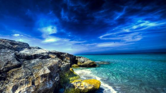 Ibiza azure beach wallpaper