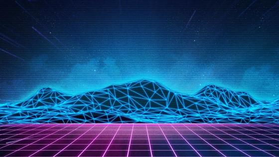 Retrofuture digital art wallpaper