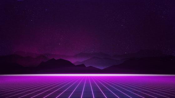 Neon laser grid wallpaper