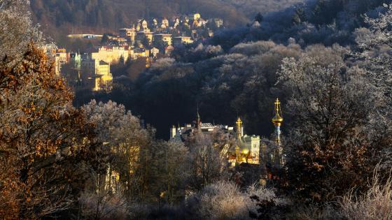 Scene from Karlovy Vary, Czech Republic wallpaper