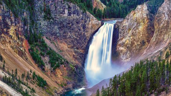 Lower Falls in Yellowstone National Park wallpaper
