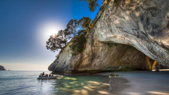 Cathedral Cove - New Zealand  wallpaper
