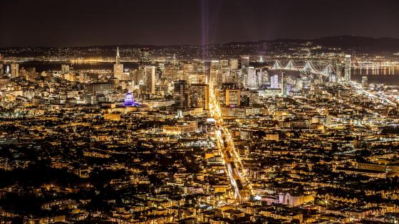 San Francisco city lights  wallpaper