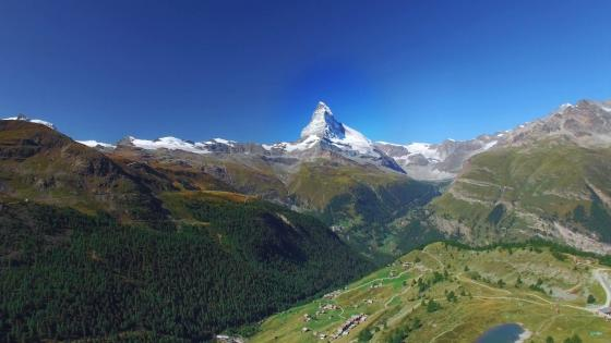 Matterhorn Mountain  - Switzerland's most famous landmark and symbol wallpaper