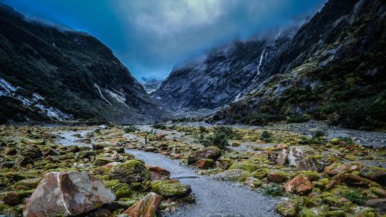 Glaciers of New Zealand wallpaper