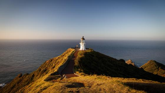 Cape Regina lighthouse - New Zealand  wallpaper