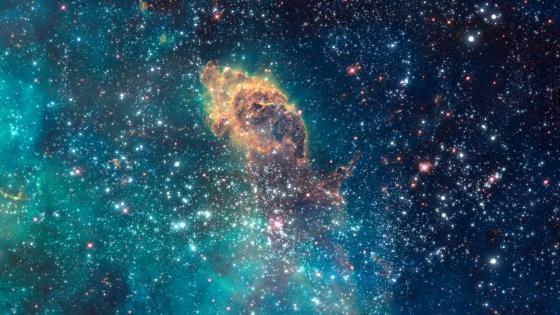 Space journey wallpaper