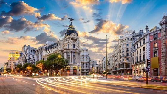 Gran Vía in Madrid, Spain wallpaper