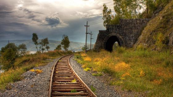 Endless railroad  wallpaper