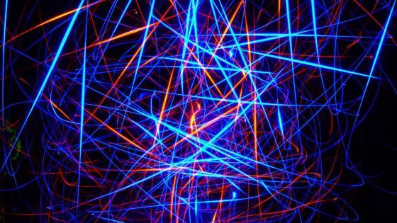 Neon lines  wallpaper