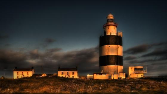 Lighthouse in the evening ⚓️ wallpaper