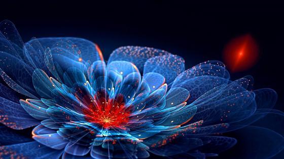 Digital flower art wallpaper
