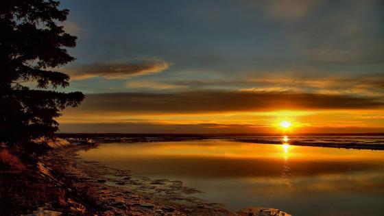 Sunrise in Alaska wallpaper