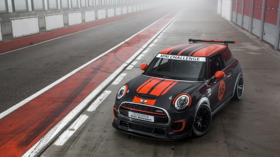 Mini Cooper racing car wallpaper