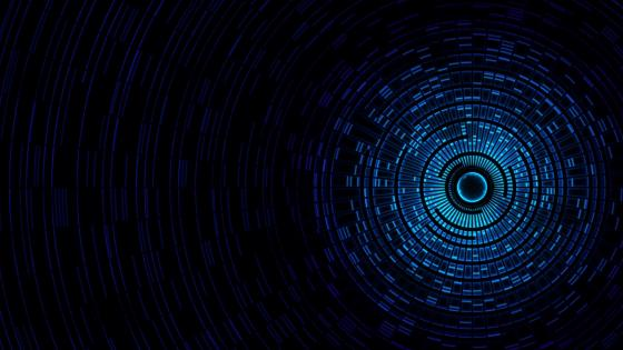 Blue vortex 3D digital art wallpaper