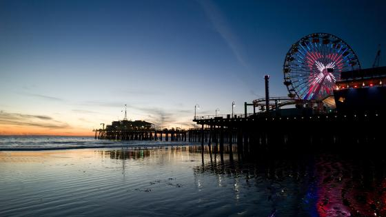 Santa Monica beach in Los Angeles, California wallpaper