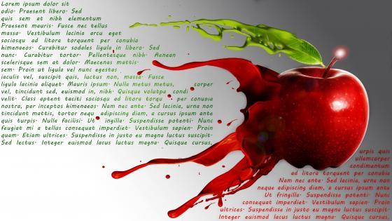 Fluid Apple wallpaper