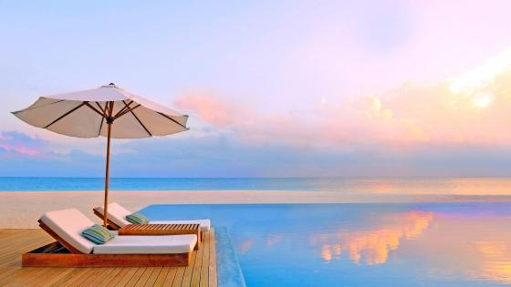 Vacation in the Maldives wallpaper