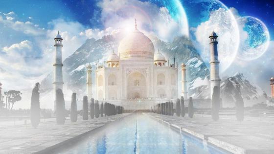 Taj Mahal fantasy art wallpaper